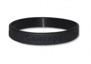 Black Awareness Wristband - Hope Courage Faith