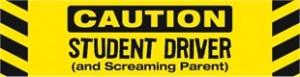 Student Driver Screaming Parent Magnet