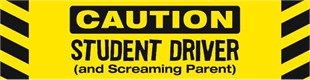 Student Driver & Screaming Parent – Magnet & Decal Monday Special
