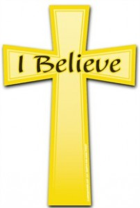 I Believe Cross Car Magnet