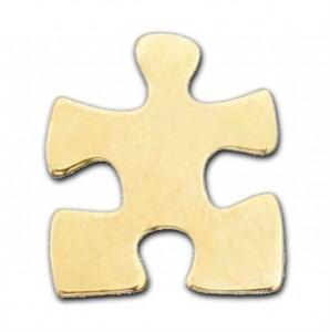 Gold Autism Awareness Puzzle Piece Lapel Pin