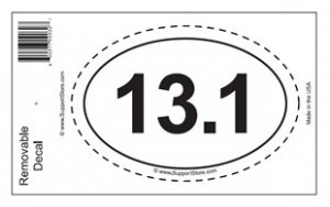 13.1 Oval Running Car Decal