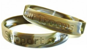 Support Our Troops Military Match Wristband