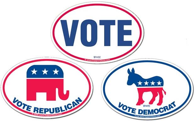 Voting Bumper Sticker Decals
