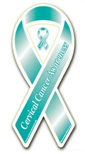 Cervical Cancer Awareness Ribbon Magnet