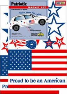 US Flag Patriotic Car Magnet Set