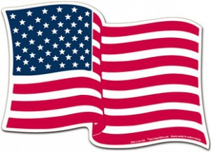 Wavy American Flag Magnet