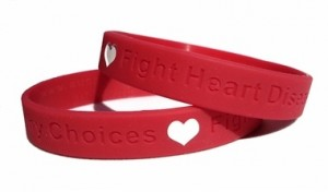 "Healthy Choices Fight Heart Disease 8"" Adult Wristband"