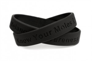 Melanoma Awareness Rubber Wristband
