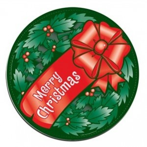 Christmas Wreath Car Magnet