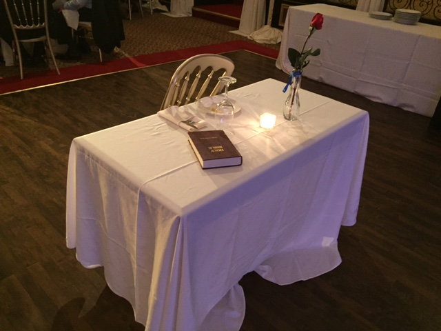 Fallen Soldiers Table - Table Set for One