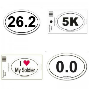 Oval Car Magnets and Decals