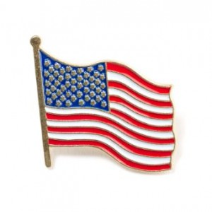 Wavy Flag Lapel Pin