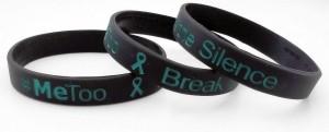 #metoo - break the silence wristband