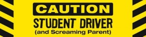 Caution! Student Driver & Screaming Parent Car Magnet