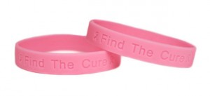 Find the Cure Pink Rubber Wristbands