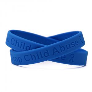 Blue Child Abuse Awareness Wristband