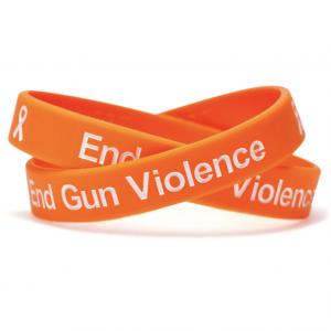End Gun Violence Orange Wristband