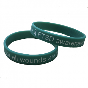 PTSD Awareness Teal Wristband