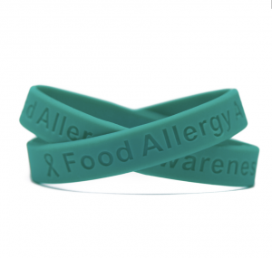 Teal Food Allergy Awareness Wristband