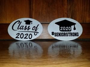 Oval Bumper Sticker Magnet Graduation Craft